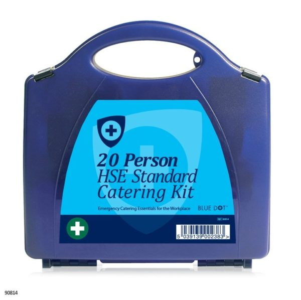 Eclipse Blue Catering First Aid Kits (Workplace HSE Compliant) Blue Box- Various Sizes