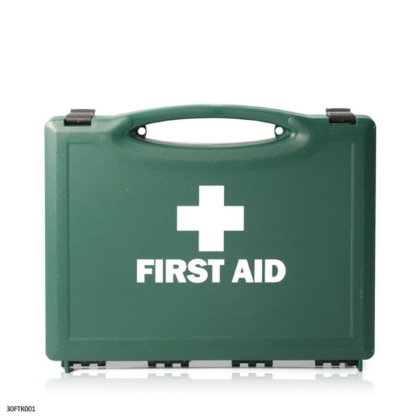 ONE PERSON TRAVEL FIRST AID KIT - HSE COMPLIANT - Green Plastic Box